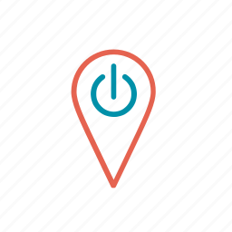 location, mindfulness, on, point, reset location icon