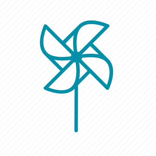 air, kid, pinwheel, play, wind icon