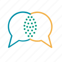 communication, conversation, dialogue, speech bubbles, talk icon