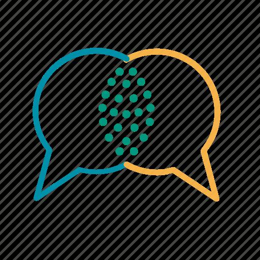 communication, conversation, dialogue, speech bubbles, talk icon