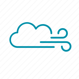 clean air, cloud, overcast, weather, wind icon