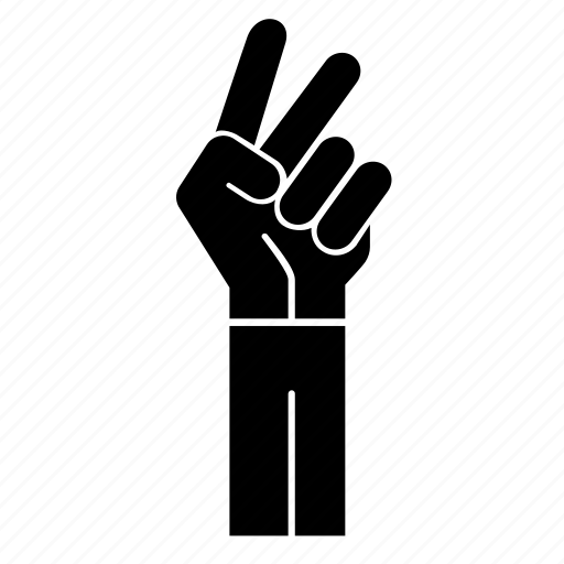 cut, gesture, hand signal, peace, sign language, victory sign icon