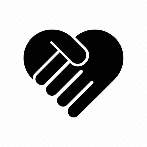 agreement, bussines, collaboration, heart, shake hands icon