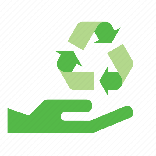 ecology, environmentalism, give, hand, recycle, recylcing, sign icon