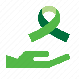 eco, ecology, environmentalism, give, green, hand, ribbon icon