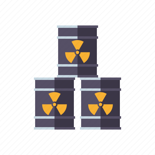 barrels, environment, radiation, radioactive, radioactivity, stack, waste icon