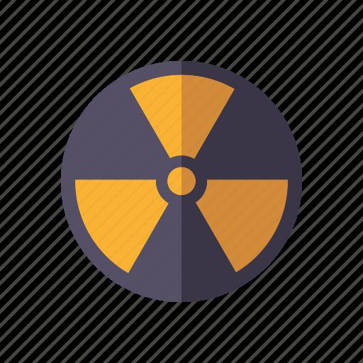 danger, environment, radioactive, radioactivity, warning icon