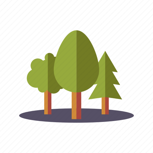 environment, forest, nature, trees, woods icon