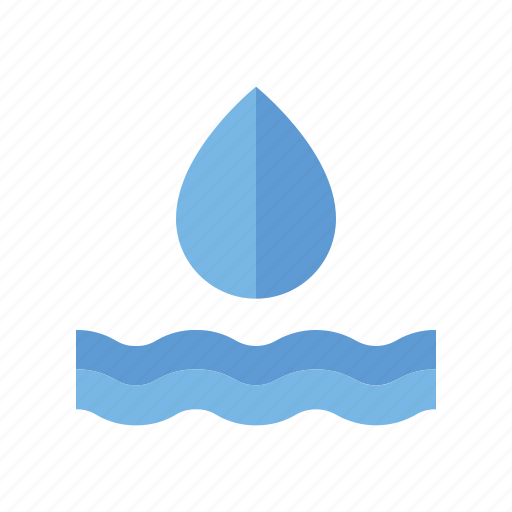 drop, environment, nature, water, wave icon