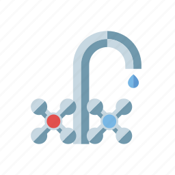 dripping, drop, environment, faucet, tap, water icon