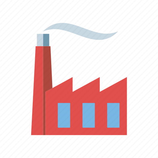 chimney, environment, factory, industry, plant, smoke icon