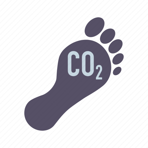 carbon, co2, environment, foot, footprint icon