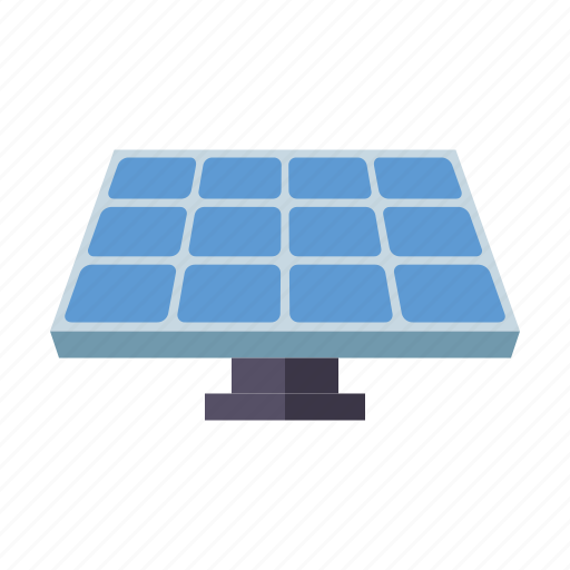 electricity, environment, power generation, renewable energy, solar cell, solar panel, sustainability icon
