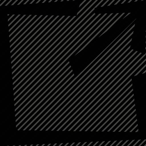 arrow, expand, logout icon