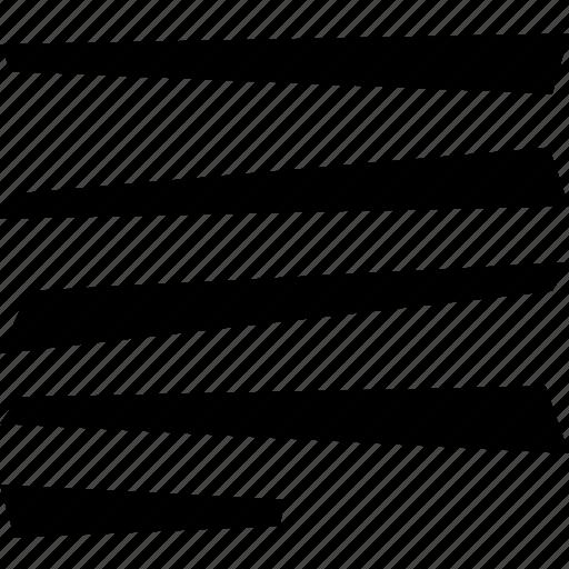 allign, left, line, text icon