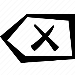 backspace, cross, delete icon