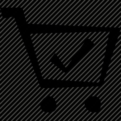 cart, check, e-commerce, shopping icon