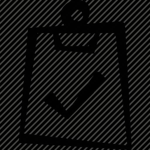 check, clipboard, paper icon