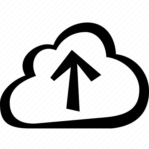 arrow, cloud, direction, upload icon