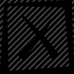cross, delete, square icon