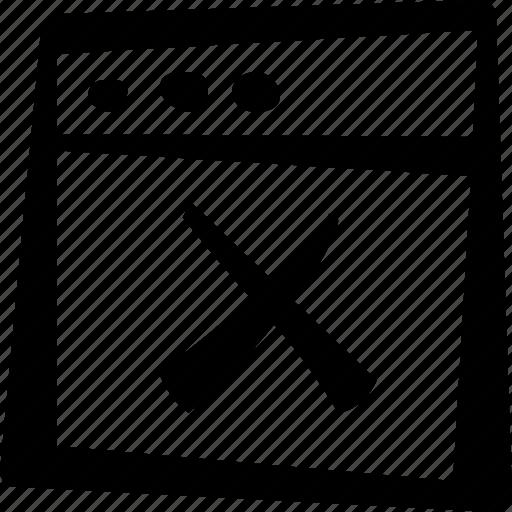 browser, cross, delete, window icon