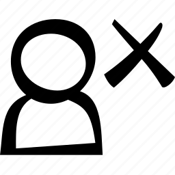cross, delete, user icon