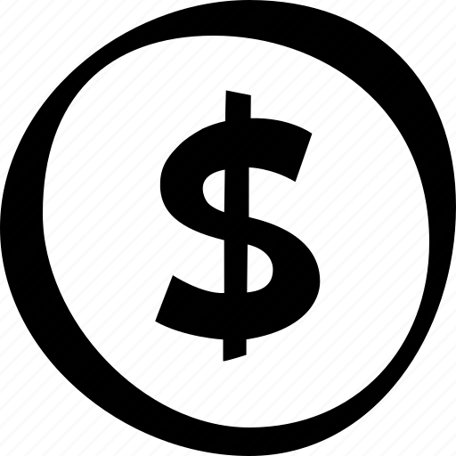 circle, currency, dollar, e-commerce, money, shopping icon