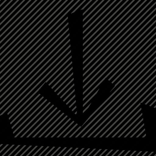 arrow, download icon