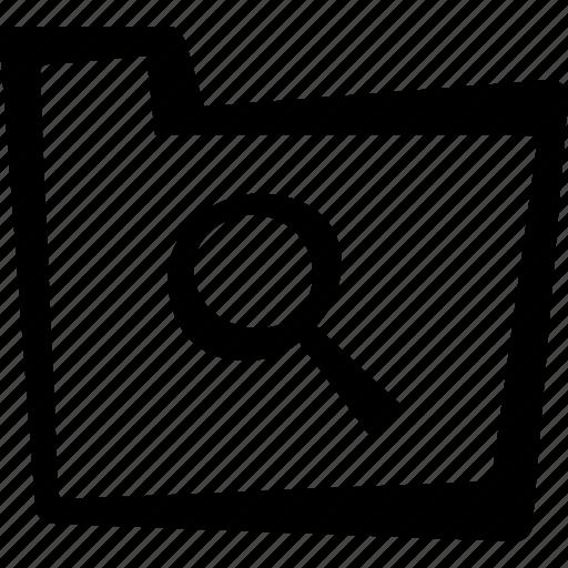 file, folder, search icon