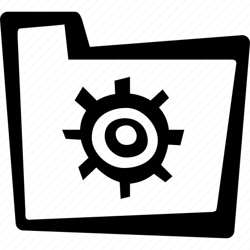 cog, file, folder, settings icon