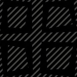 display, grid icon