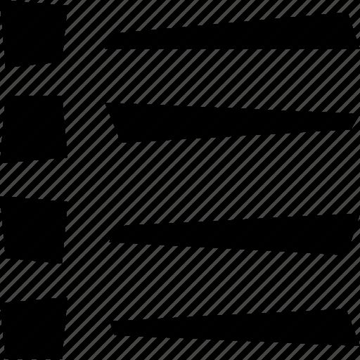 display, list icon