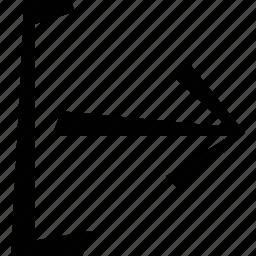 arrow, logout icon