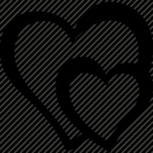 heart, hearts, love icon