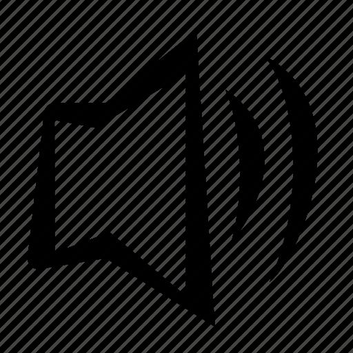 medium, music, volume icon