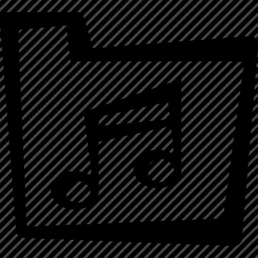 file, folder, music, sound icon