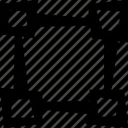 design, grid, pixels icon