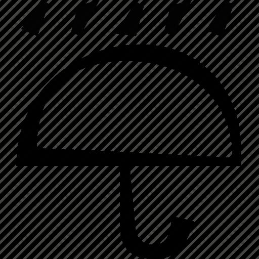rain, raining, umbrella, weather icon