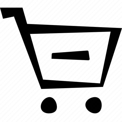 cart, e-commerce, minus, remove, shopping icon