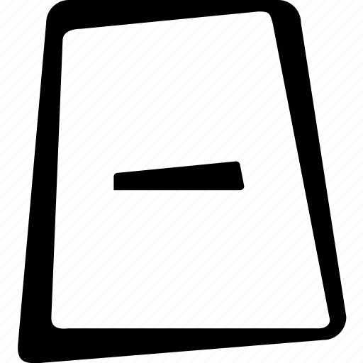 document, file, minus, paper, remove icon