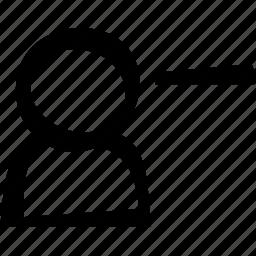 minus, remove, user icon