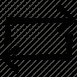 arrow, repeat icon