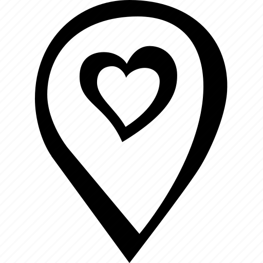 heart, location, love, place, position, romantic icon