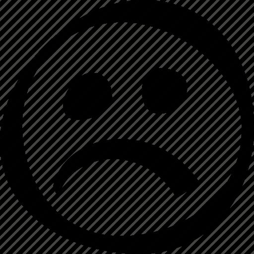 face, sad, smiley icon