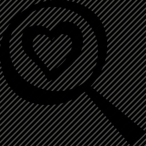 heart, love, search icon