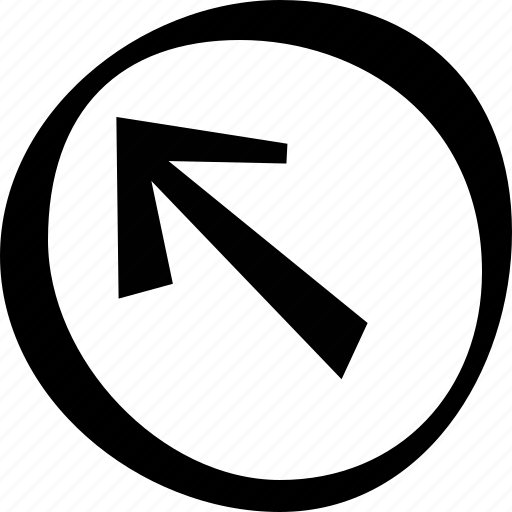 arrow, circle, direction, left, top icon
