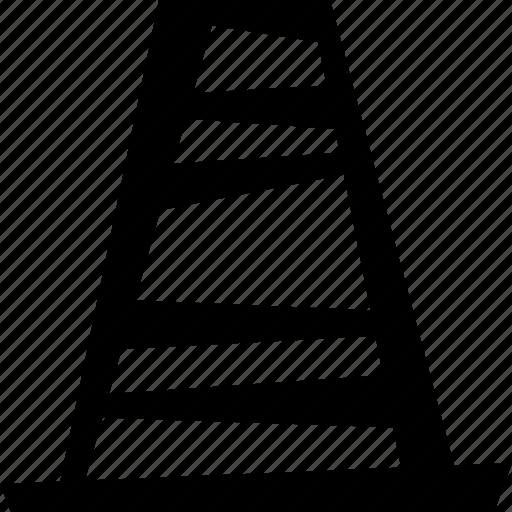 car, cone, traffic icon