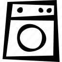 clothing, furniture, laundry, machine, washing icon