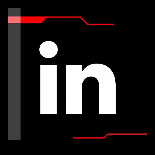 internet, linkedin, web icon