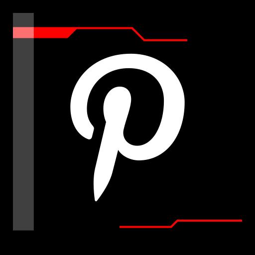 internet, pinterest, web icon
